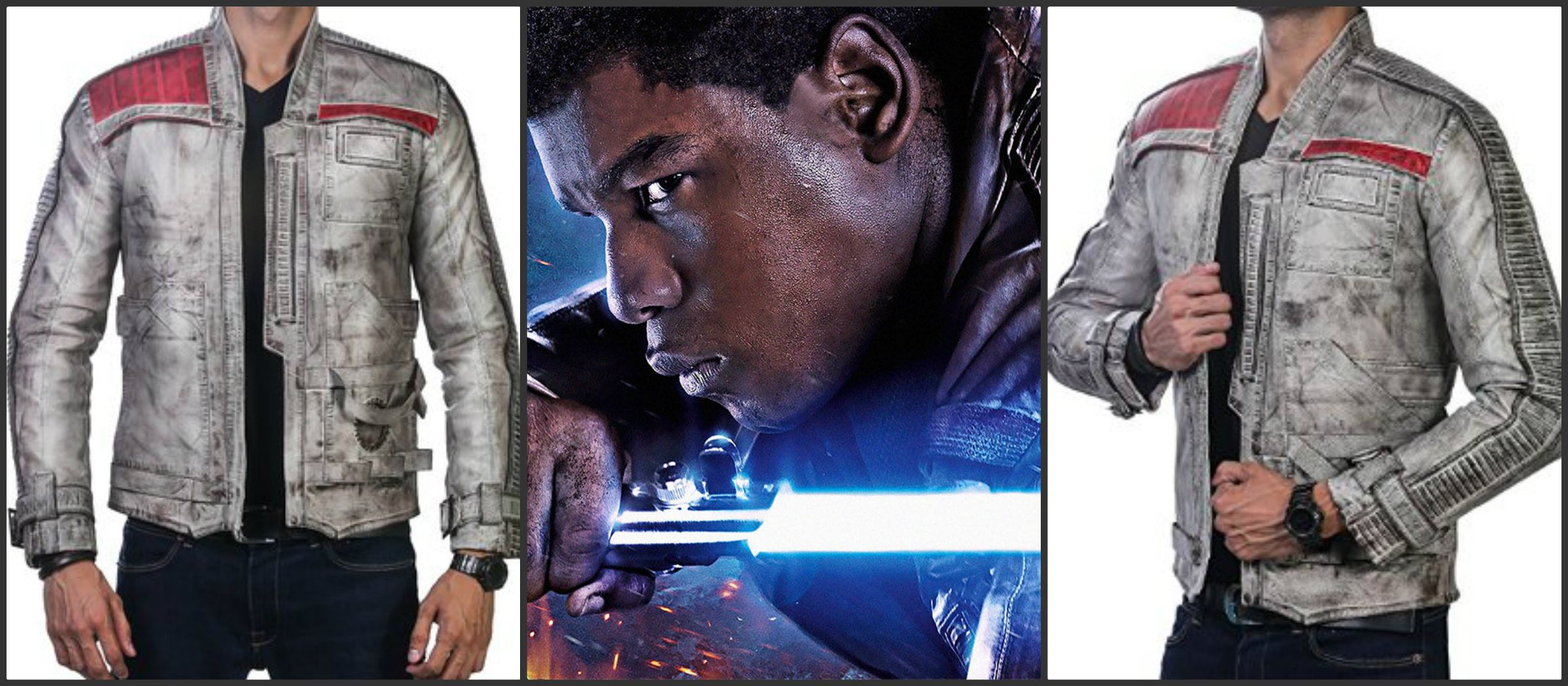 Get this classy John Boyega leather jacket from one of the