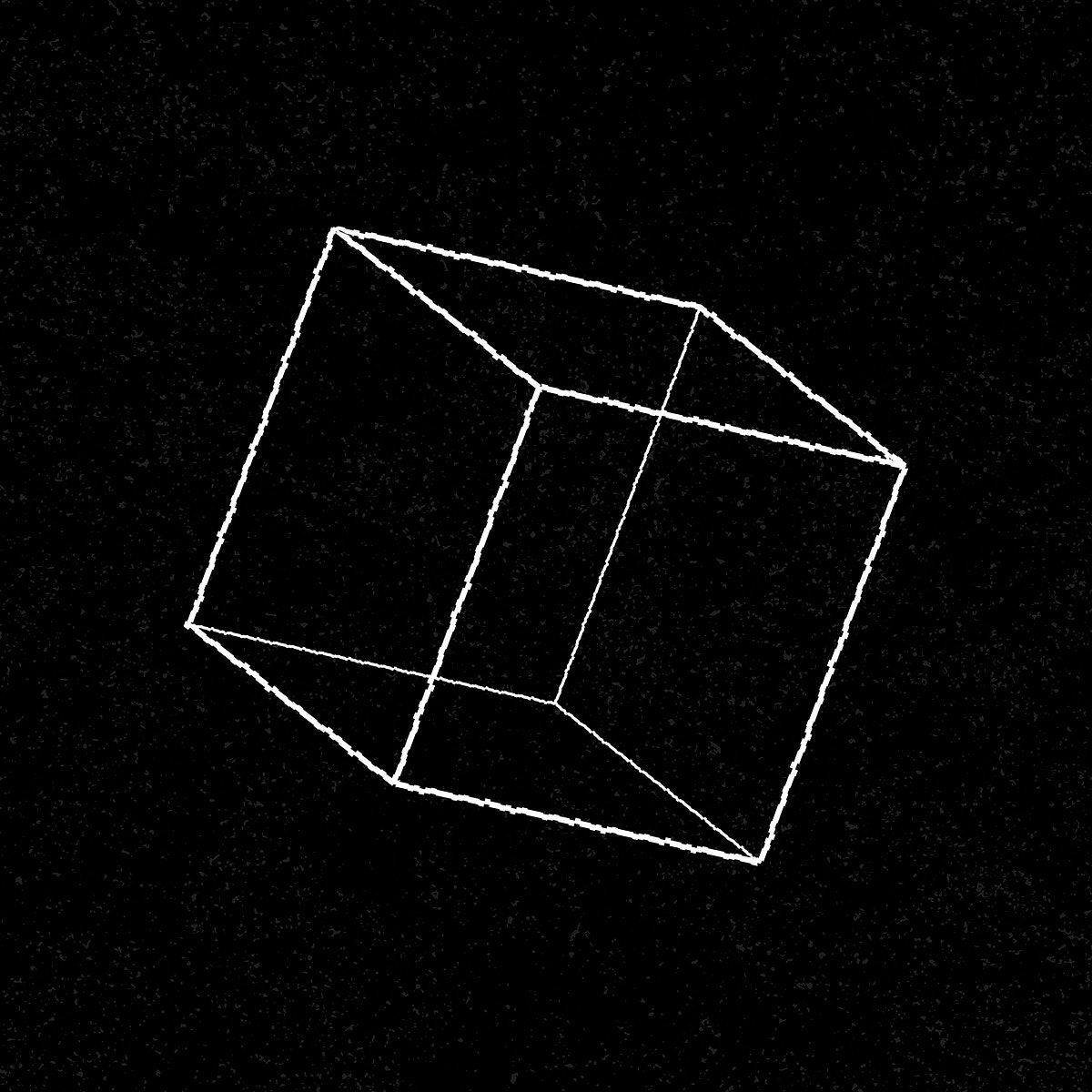 3d Geometric Cube On A Black Background Vector Free Image By Rawpixel Com Aew Vector Free Black Backgrounds Geometric