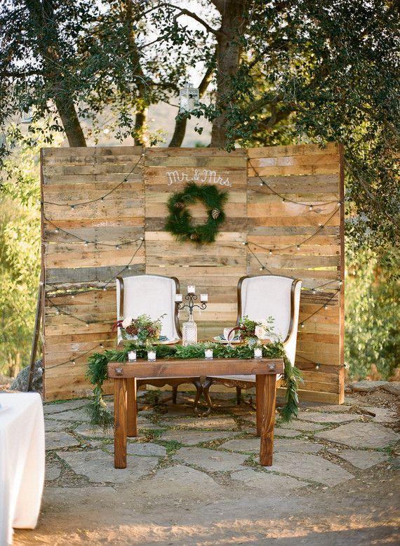 Rustic sweetheart table backdrop   Wedding & Party Ideas ...