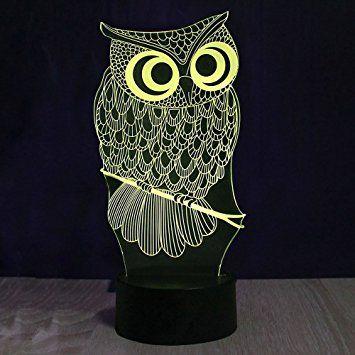 3d Owl Shape Table Night Light For Kids Room Amazon Affiliate Link Lampa Podarki
