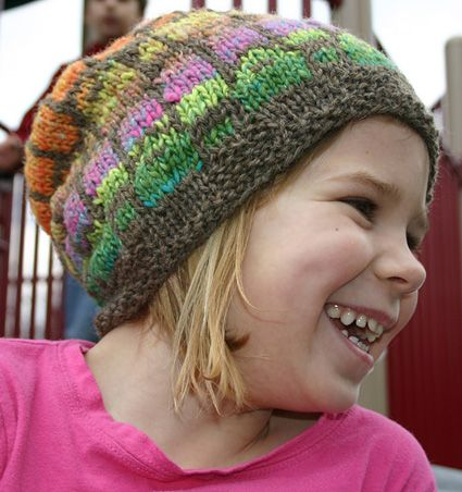 """Free pattern for a """"slouchy hat"""" that is perfect for using up your stash"""