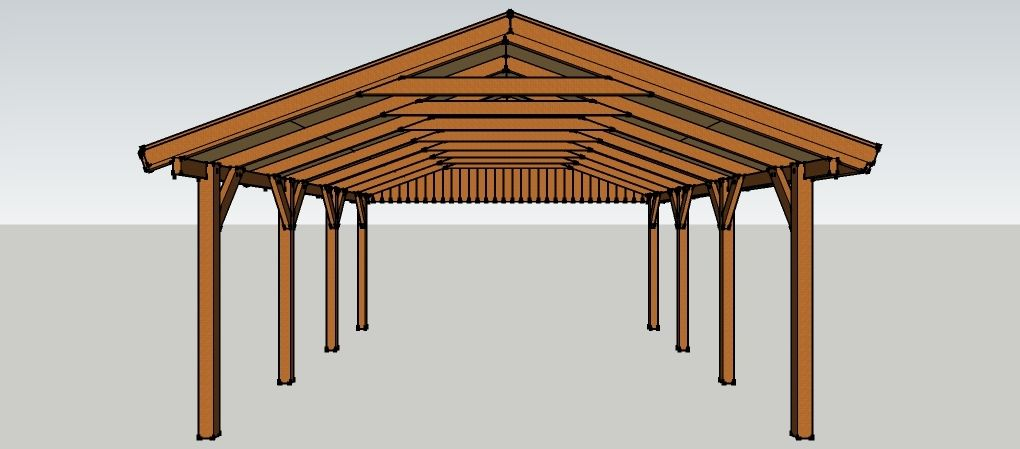 carport 5 x 7 meter mit satteldach aus holz zum selber. Black Bedroom Furniture Sets. Home Design Ideas