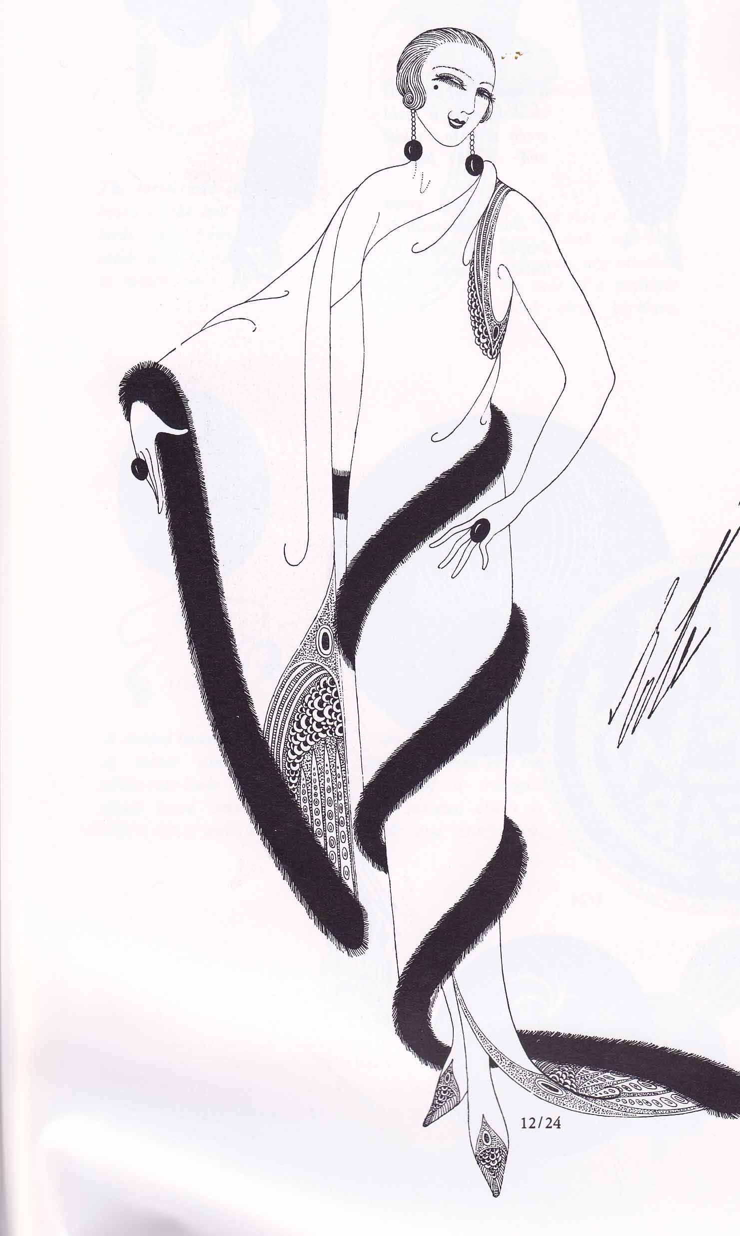 1920s elegance by the great designer/illustrator Erte #FashionFriday. 1920s  elegance by the great designer/illustrator Erte #FashionFriday Art Deco  Fashion ...
