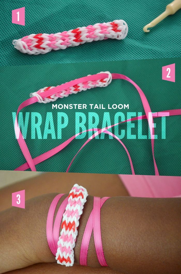 The possibilities are endless with Monster Tail Rainbow Loom. Change up the look by turning your creation into a wrap bracelet with these three, easy steps! Get this craft idea available at Walmart.