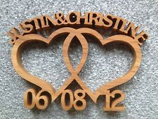 Wooden Entwined hearts.