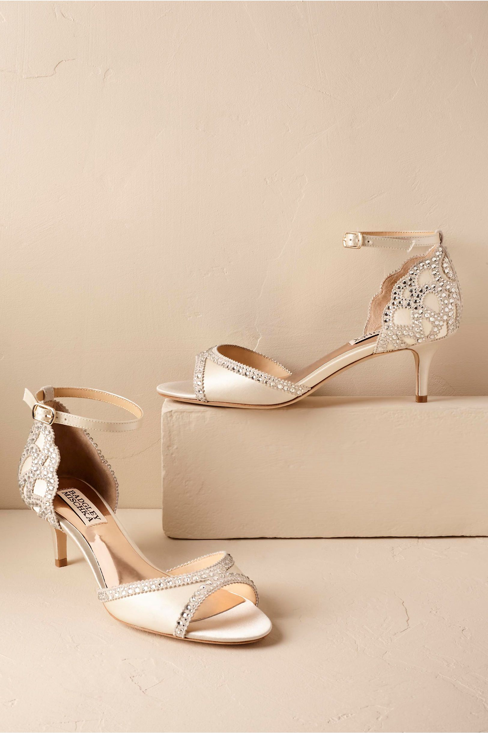 308dc51d69cb1a BHLDN s Badgley Mischka Chaumont Heels in Ivory