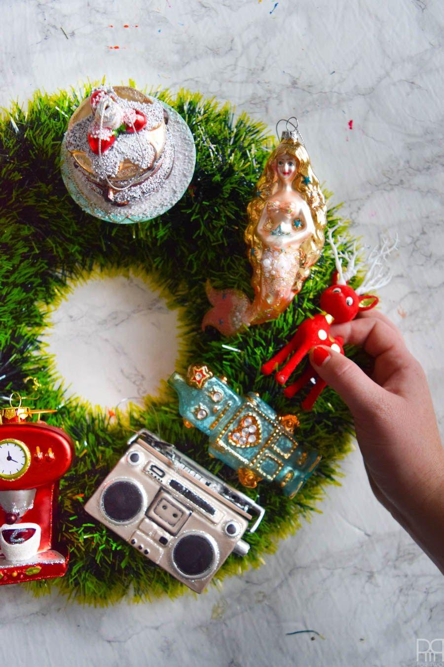 His & Hers Christmas Wreaths Christmas wreaths, Vintage