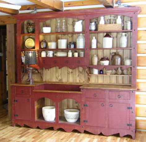 Apple Hill Rustic Pine Furniture   China Cabinet/wall Unit,many More Are  Available