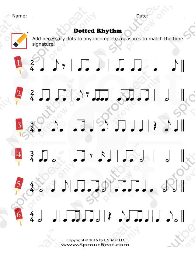 Dotted Rhythm Music Worksheets Music Theory Worksheets Rhythm Worksheets