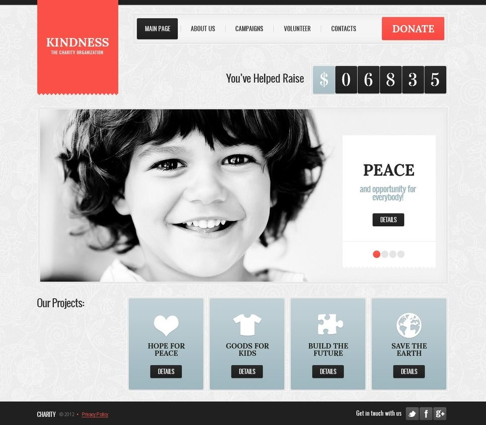 Charity Website Template Charity Website Template Website Template Charity Websites Personal Website Portfolio