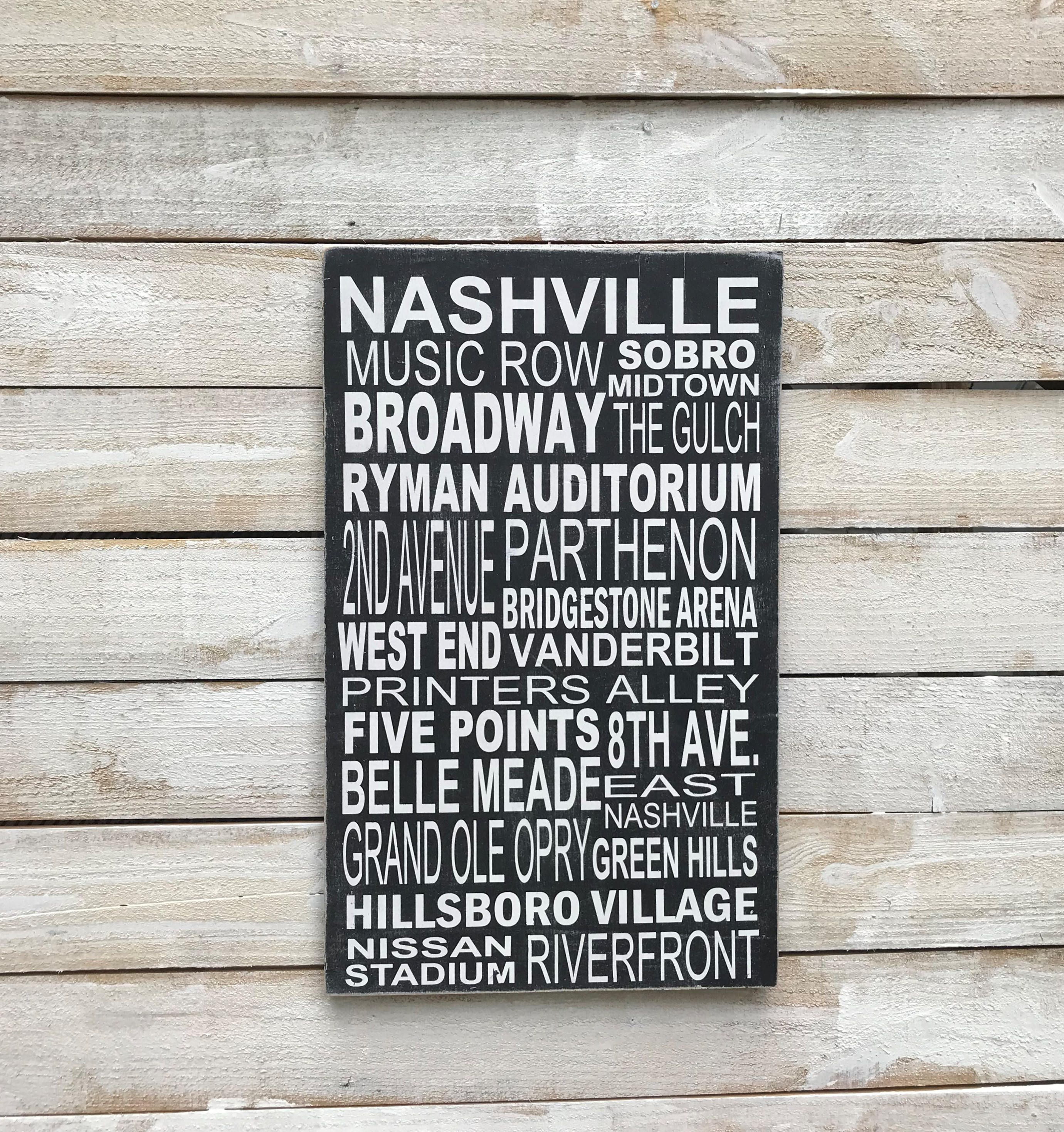 Custom Nashville Subway Art Sign | Subway art, Sign art ...