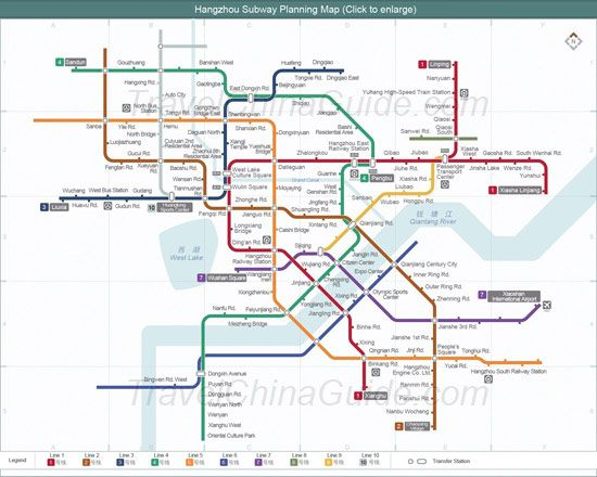 Hangzhou subway planning map Hangzhou Zhejiang Maggies 22