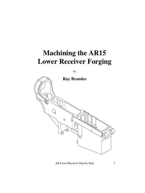 Machining the AR15 Lower Receiver Diy Pinterest Ar lower - new machinist blueprint examples