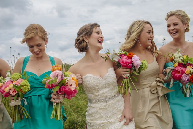 Amazing pops of color to bring life to your wedding design! Our Labor of Love Photography