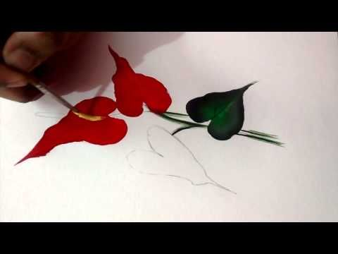 Simple flower painting - YouTube