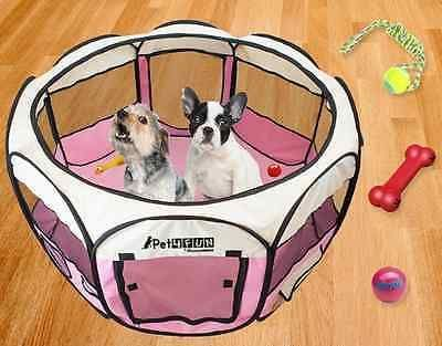 Pet Playpen For Small Dogs Portable Kennel Cage Folding Puppy Indoor Outdoor