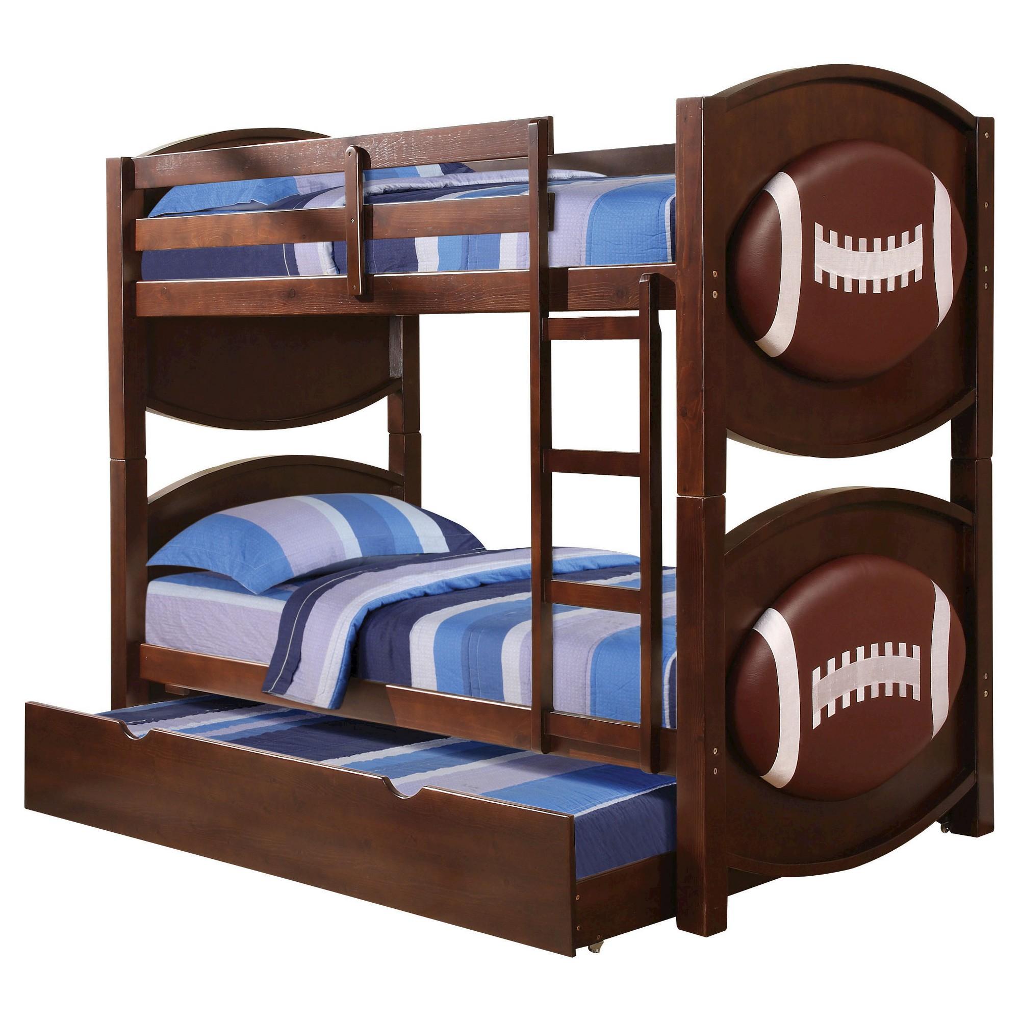 All Star Kids Football Bunk Bed - Espresso( Twin/Twin) - Acme ...