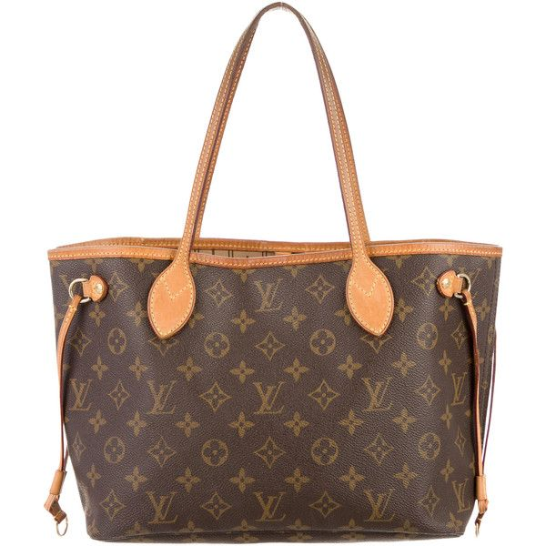 Pre-owned Louis Vuitton Monogram Neverfull PM (13.130 ARS) ❤ liked on Polyvore featuring bags, brown, louis vuitton, louis vuitton bags, monogrammed bags, flat bags and preowned bags