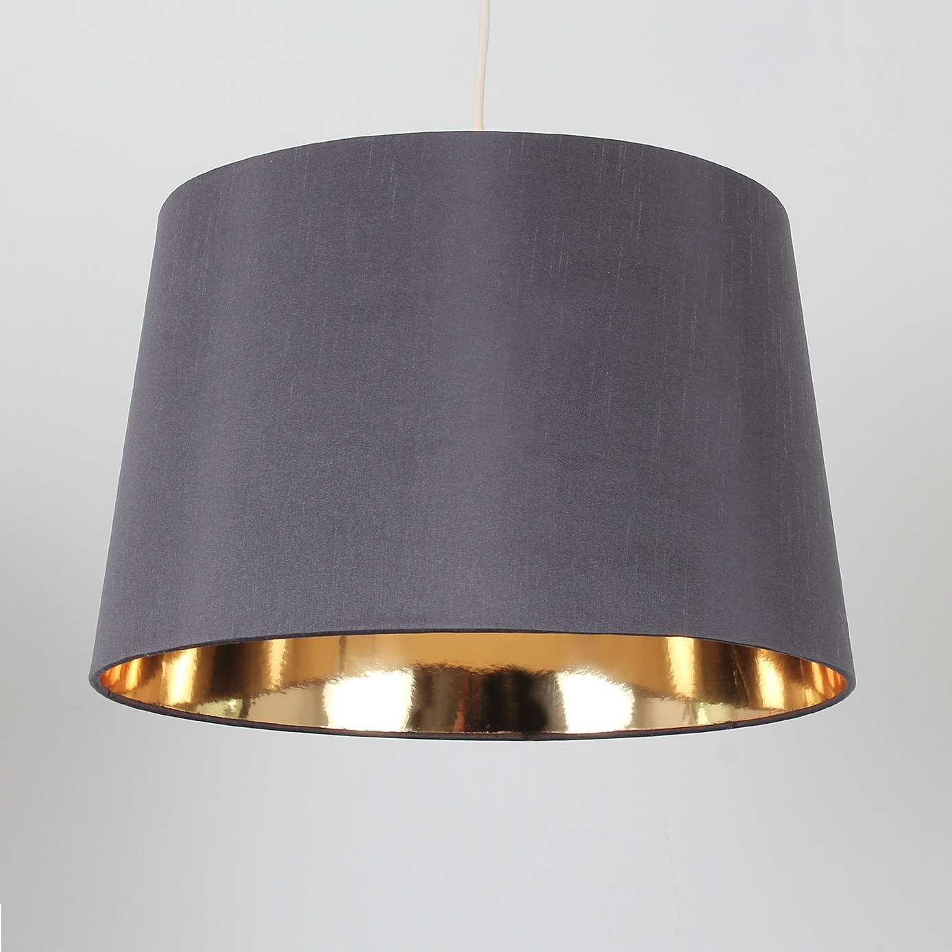Dunelm Ritz Contemporary Design Gold Faux Silk Light
