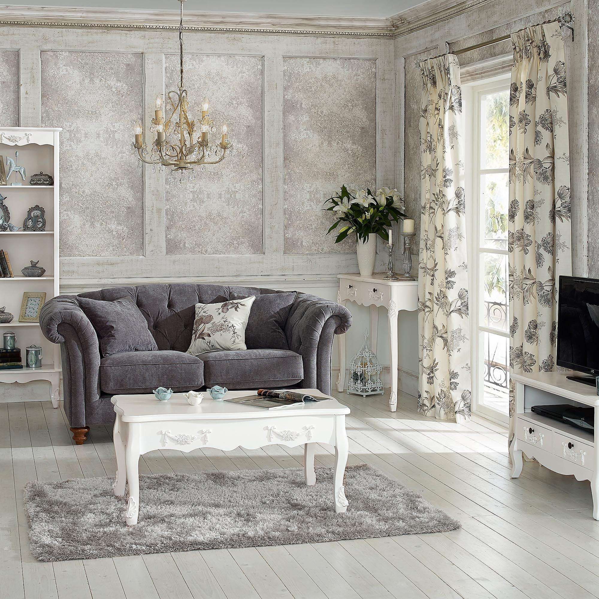 Toulouse White Coffee Table Furniture Living Furniture White Painted Furniture Living room ideas dunelm