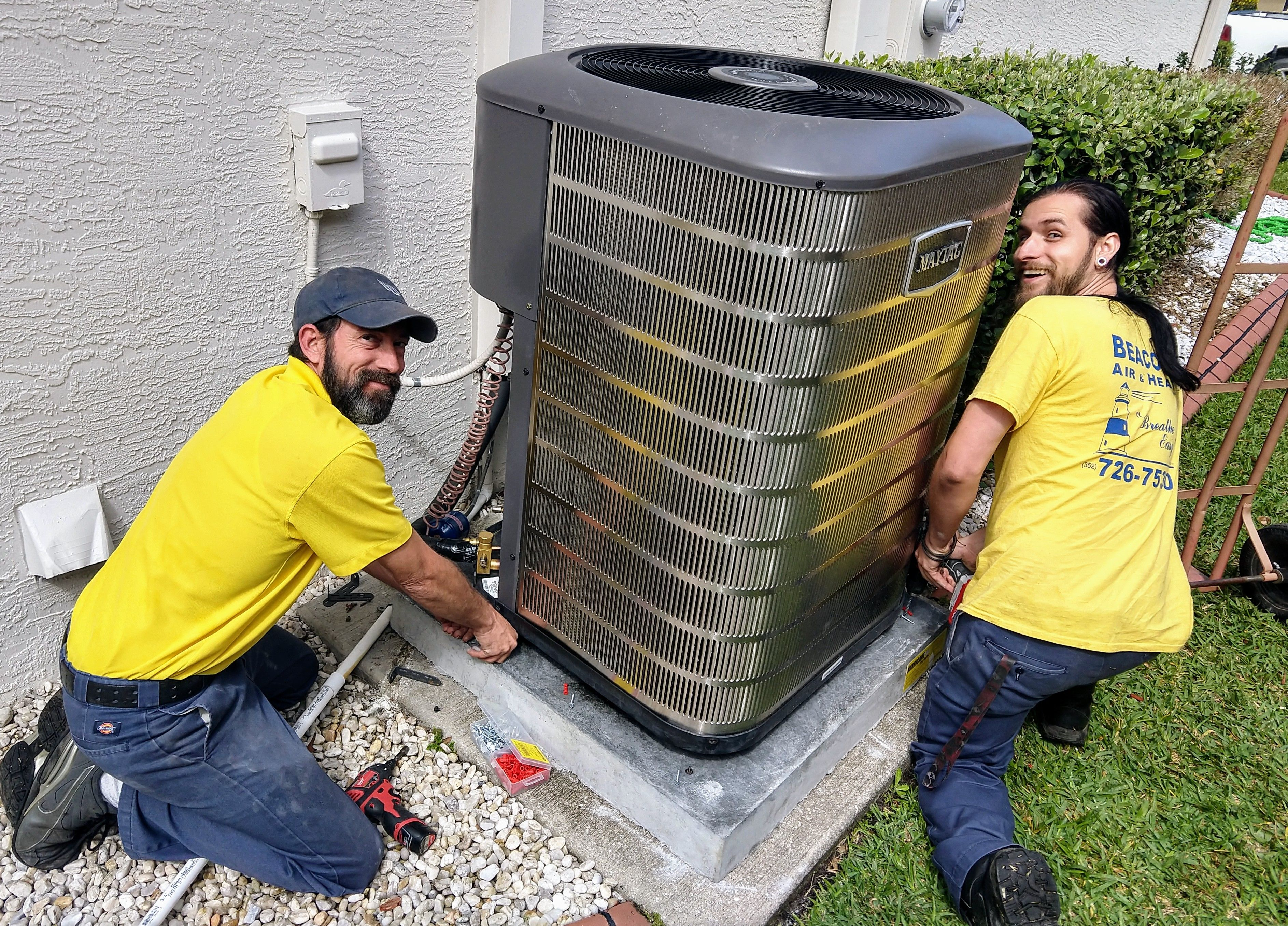 The Beacon Installers Make This Maytag M 1200 Series Air Conditioner Look Good Appliance Store Inverness Maytag