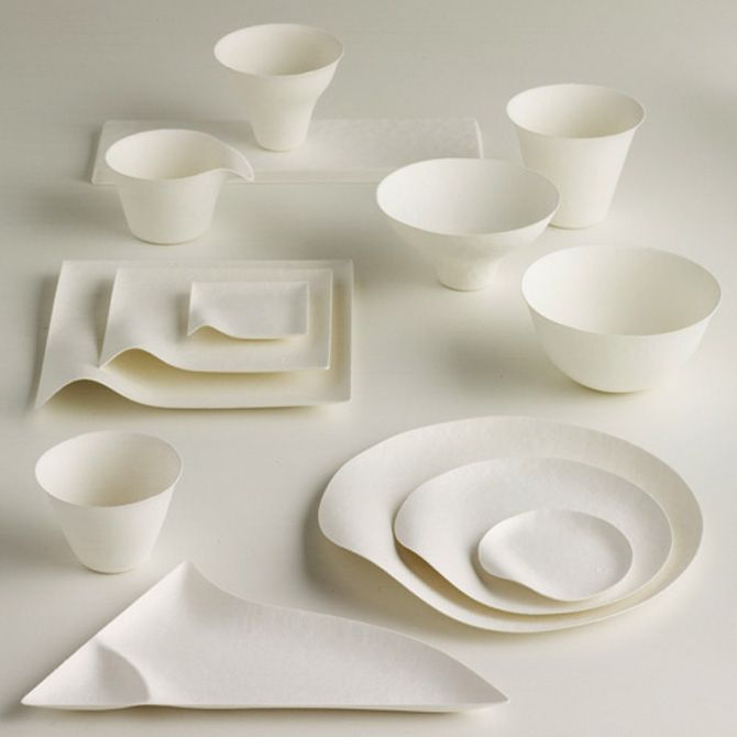 Disposable tableware. Very cool! : contemporary tableware - Pezcame.Com