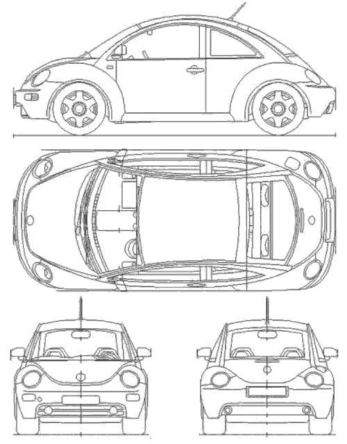 Image result for 2015 volkswagen beetle orthographic