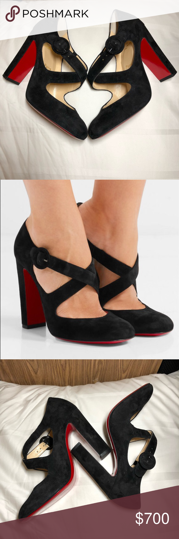 promo code 882ad 9cad0 NEW christian louboutin miss ellen pumps size 39 Brand new ...