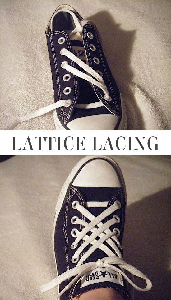 Lattice Lacing 5 façons amusantes et créatives d'attacher vos chaussures  5 Fun and creative ways to tie your shoes