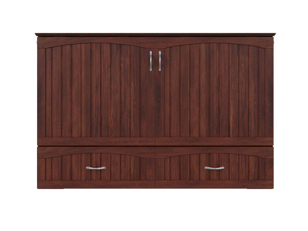 Best Canora Grey Aucoin Queen Storage Murphy Bed With Mattress Wayfair Beige Headboard Decor 400 x 300