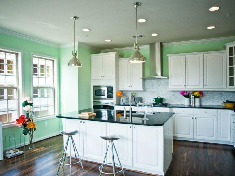 Cocinas verdes - deja que el color verde inunde tu cocina - Cocina