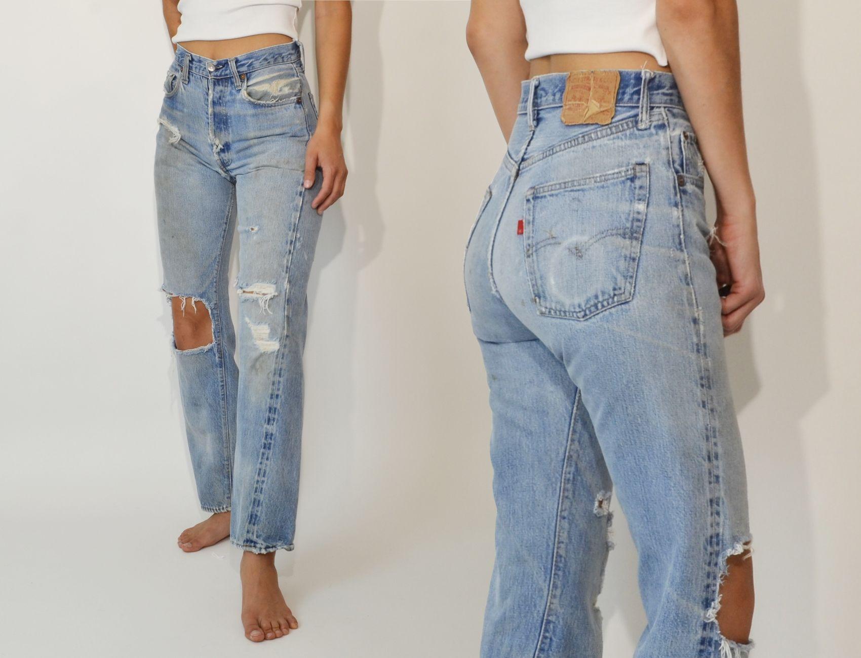 Vinage Levi S 501 Levi Jeans Outfit High Waisted Denim Jeans High Waisted Denim