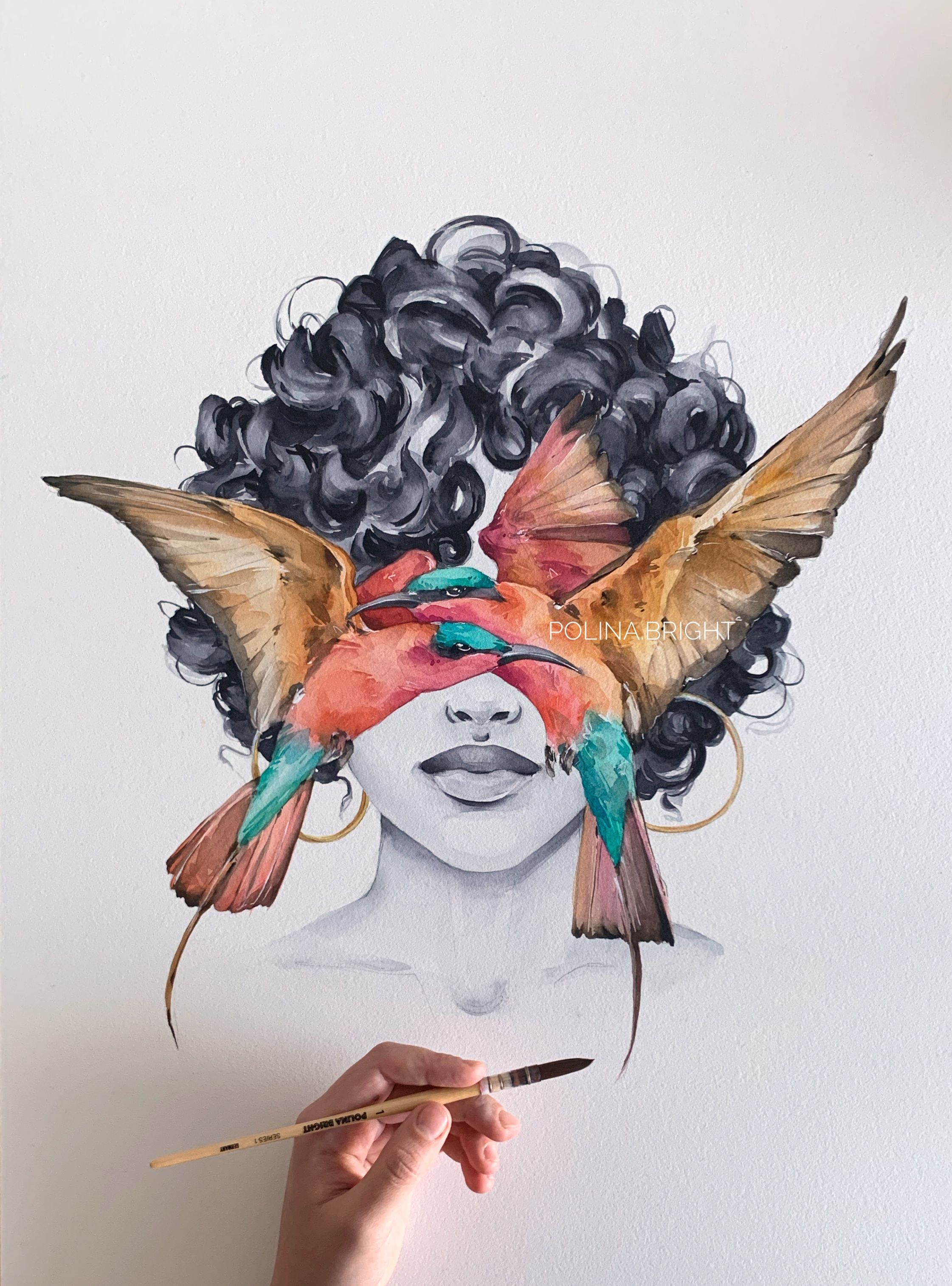 Bee-eater Blindfolded by Polina Bright