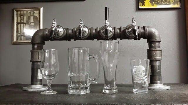 Diy Iron Pipe Beer Tower On My Kegerator Brewing Beer