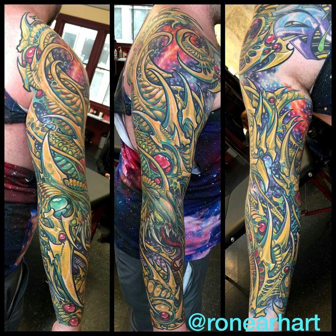 Pin by อะ on like Biomechanical tattoo, Organic tattoo