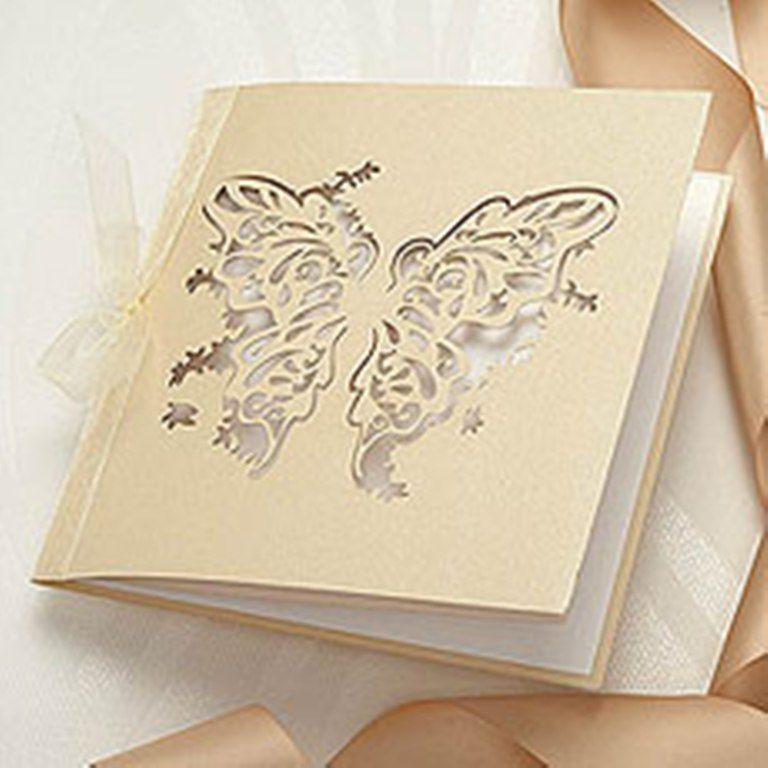 elegant butterfly wedding invitations   art   Pinterest   Weddings ...