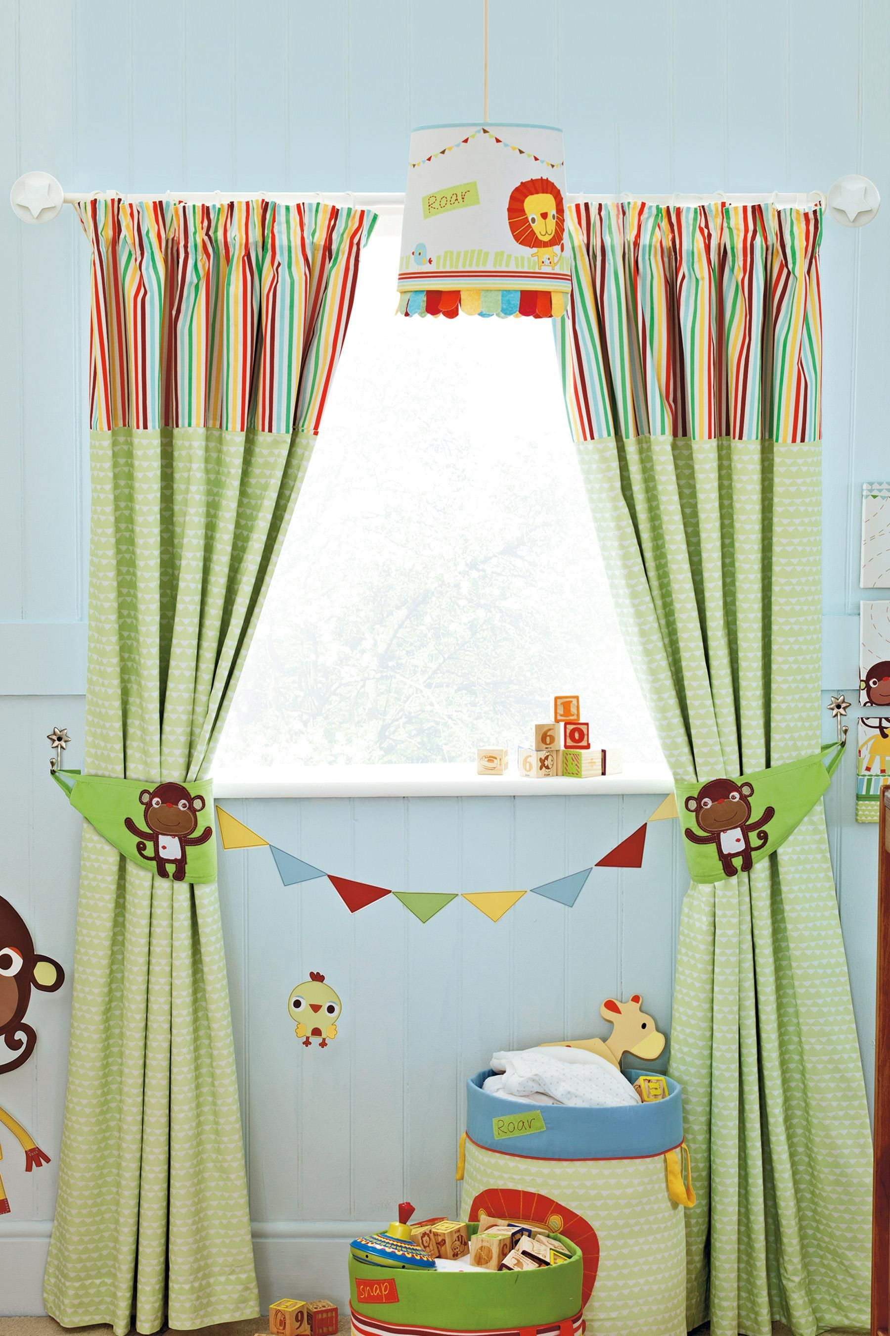 Buy Jungle Brights Pencil Pleat Blackout Lined Curtains from the ...