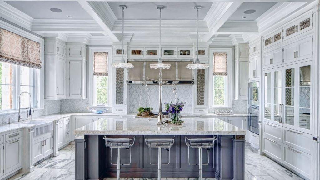 Marble Kitchens That Spell Luxury   White marble kitchen ...