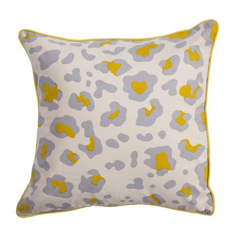 Whitecap Gray Animal Print Pillow - Scout & Nimble