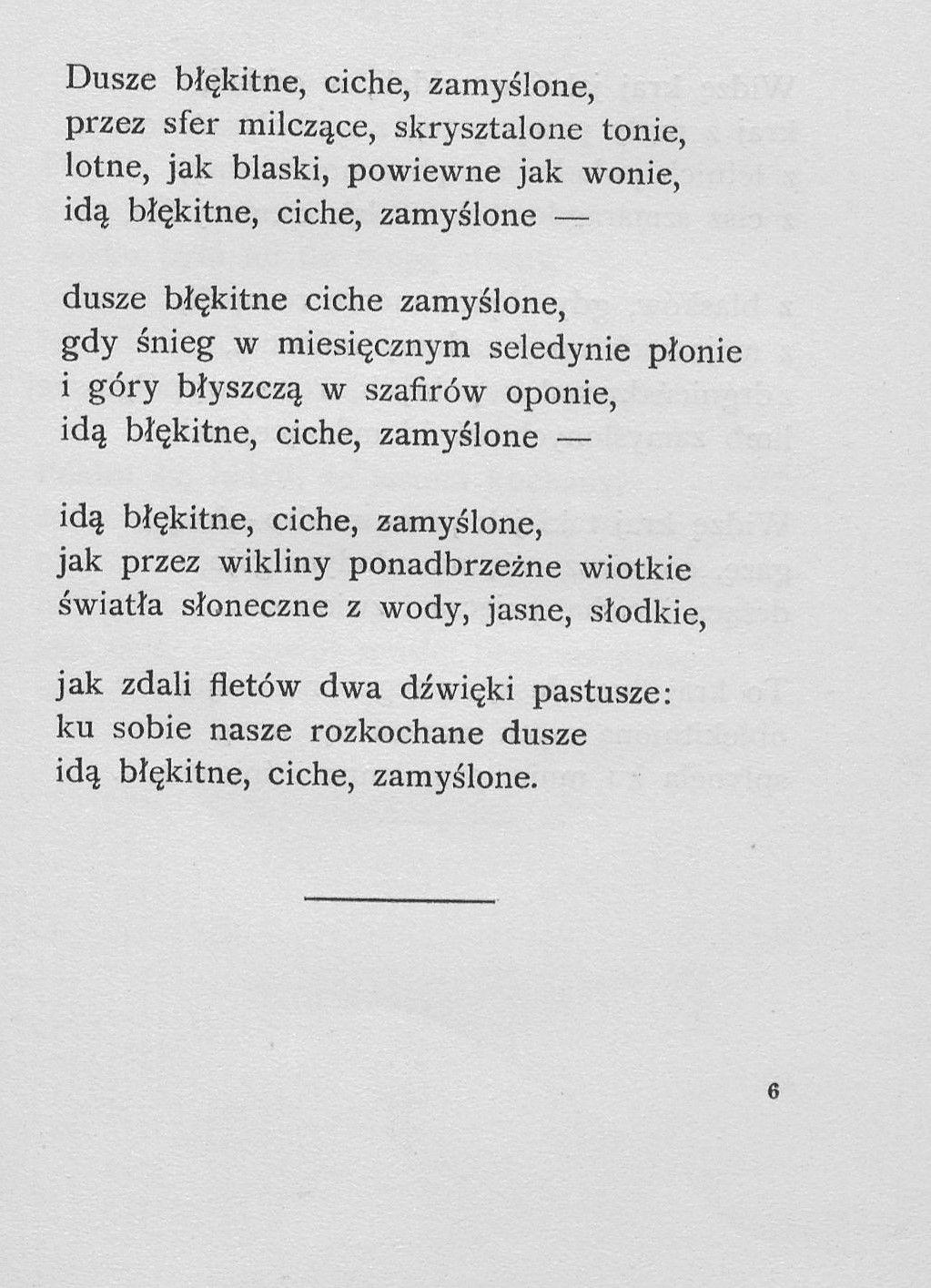 Kazimierz Przerwa Tetmajer Poezja Polska Poetry Poems