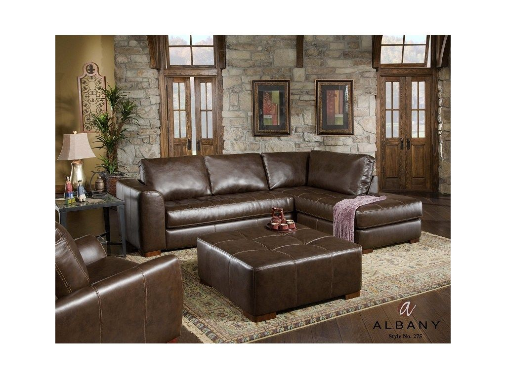 Chesterfield Sofa Albany Living Room PC Sectional Left Arm Facing Sofa Right Arm Facing Chaise