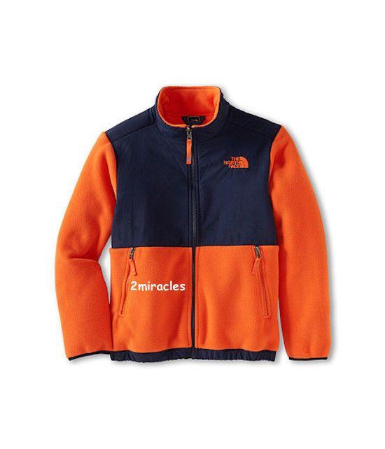New Kid/'s THE NORTH FACE Black Zipper Denali Fleece Jacket NWT SMALL 7//8
