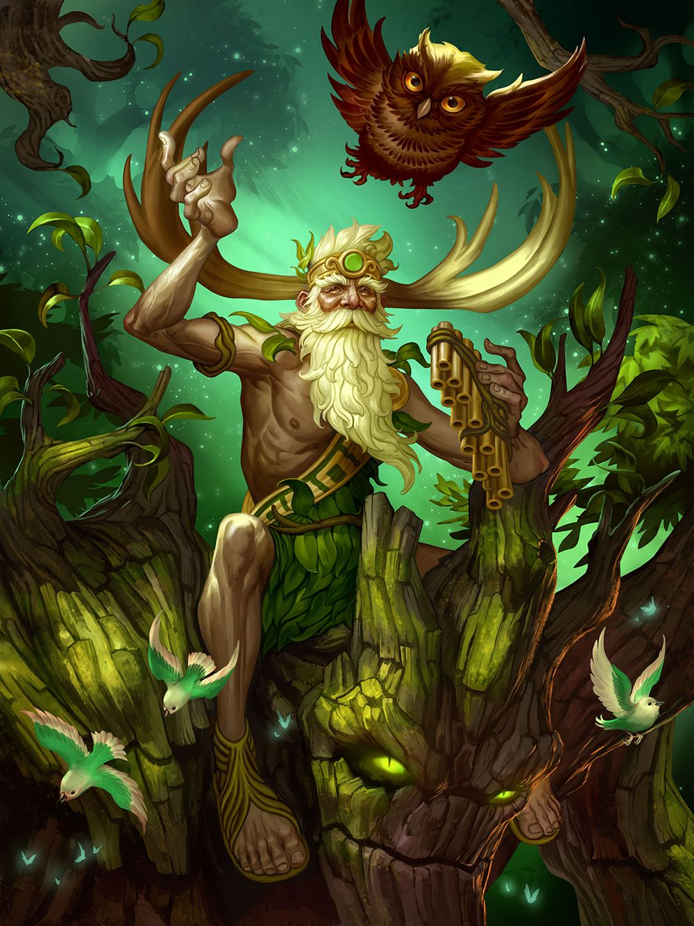 Smite sylvanus roman god of the woods and flocks