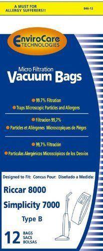Evolution /& Bernina Upright Vacuum Cleaner Bags 6000 Series