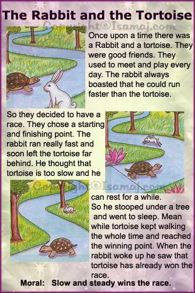 Moral Stories: The Rabbit and the Tortoise | Kids Moral