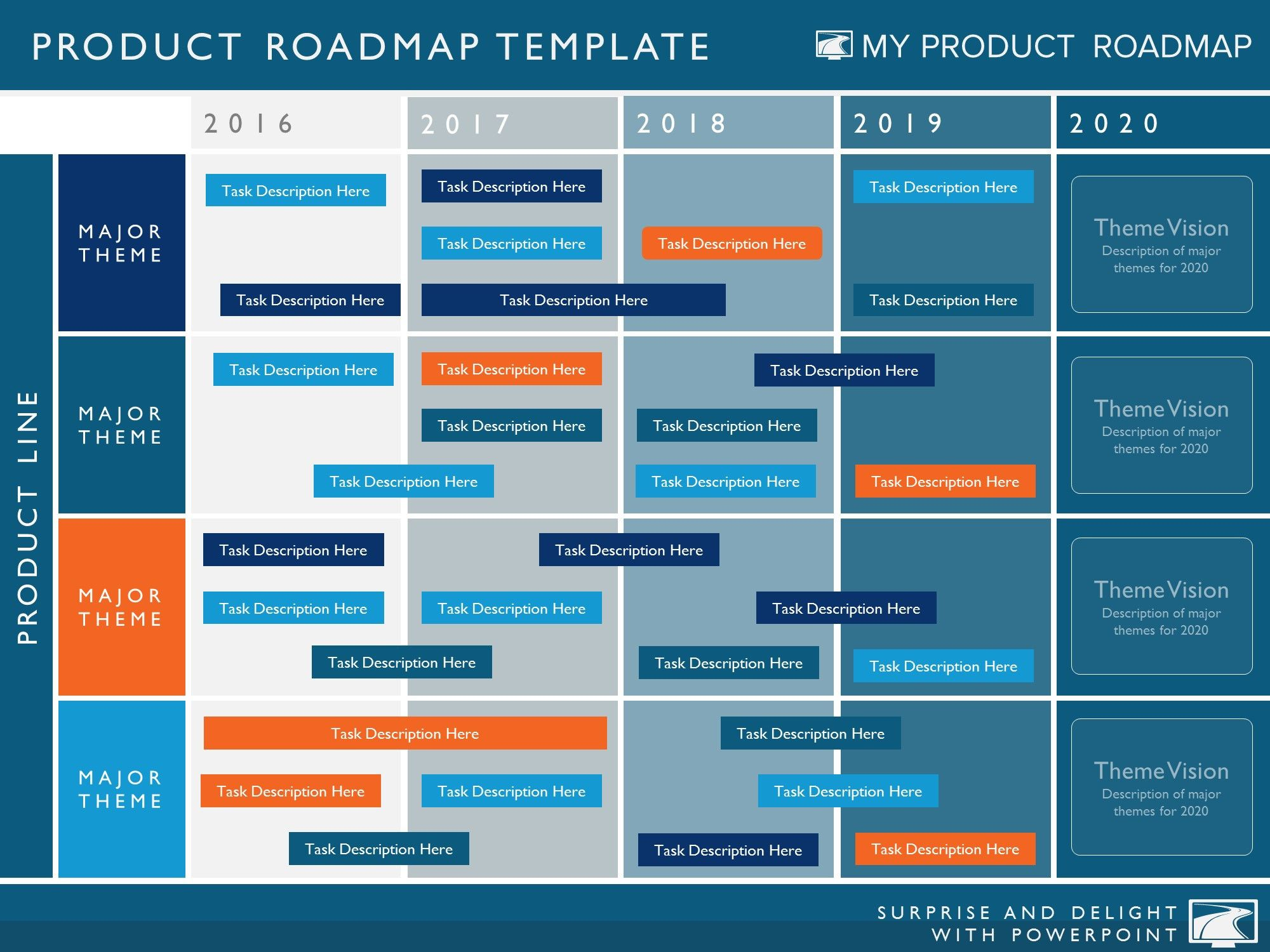 Five Phase Agile Software Timeline Roadmap Powerpoint Diagram  My