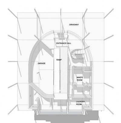 Villa savoye rez de chauss e architecture parallactic for Maison minimaliste plan