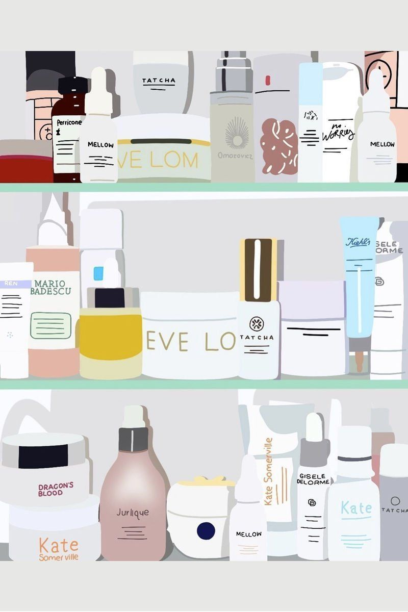 The Problem With Skincare Products How To Fix It Beauty Illustration Fashion Wall Art Skin Care
