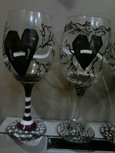 Old fashion heart glasses