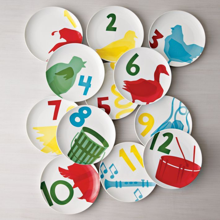 12 day of christmas plates